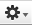 The icon in Lync for Mac looks like a gear