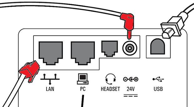 Unplug both the LAN/Ethernet cable and the round power cable, if both are present