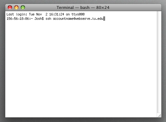 Terminal screenshot