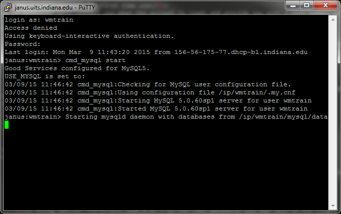 MySQL server progress   messages