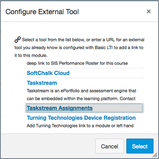 Configure External Tool pop-up