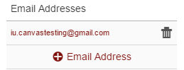 An unconfirmed email address in Canvas