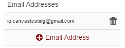 A confirmed email address in Canvas
