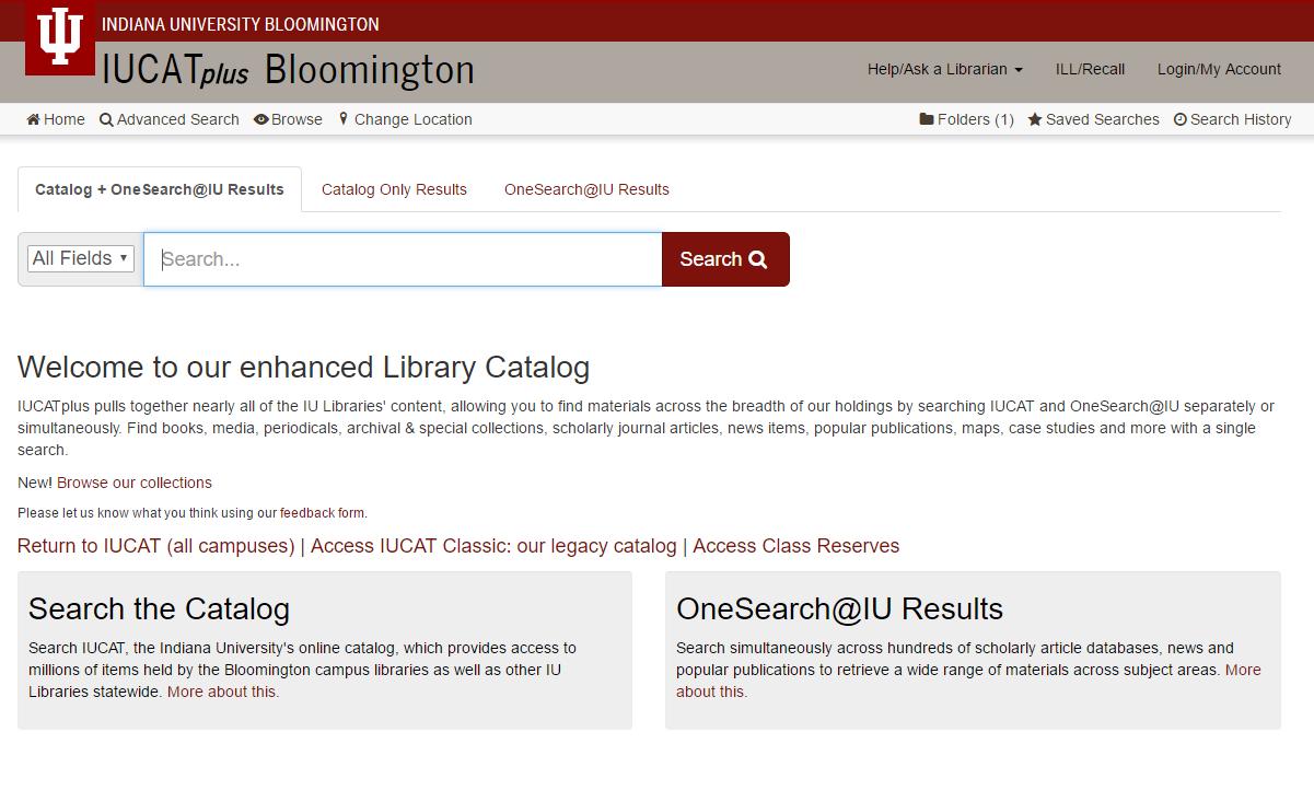IUCATplus main search screen