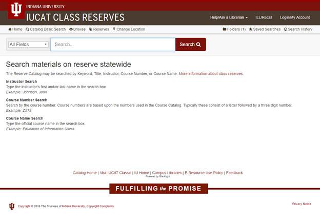 IUCAT class reserves home screen (a078t)