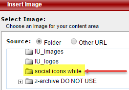 Salesforce Marketing Cloud: Select social icons white folder