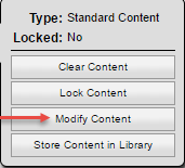Salesforce Modify Content selection
