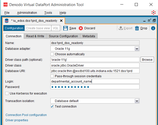 Denodo VirtualPort Administration Tool