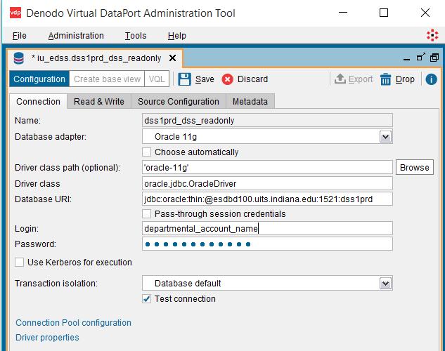 Denodo VirtualPort Administration Tool screenshot (a080v)