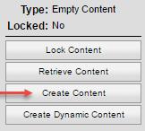 Salesforce Create Content option