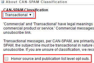 Salesforce About CAN-SPAM Classification