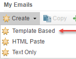 Salesforce: Selecting template-based emails