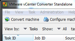 VMware vCenter Converter Standalone window (a086b)