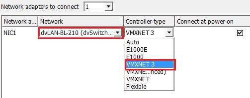VM network adaptors