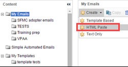 Salesforce Marketing Cloud: Creating an HTML Paste email message