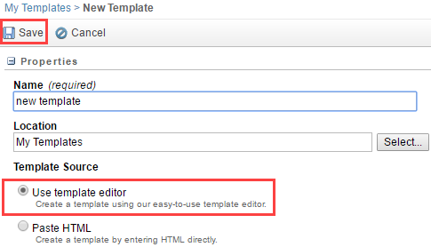 Create a Branded Email using the Template Editor: Use Templates ...