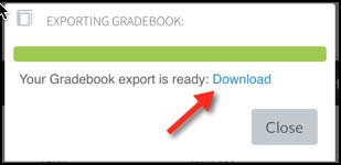 Top Hat download exported gradebook