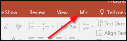 Office Mix tab in PowerPoint