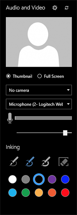 Office Mix audio and video preferences