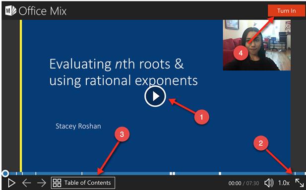 Office Mix presentation screen