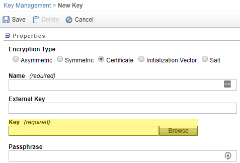 Click 'Browse' to locate and select the S/MIME certificate saved on your workstation.