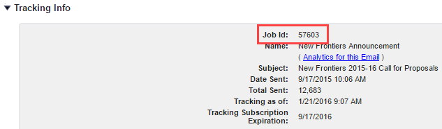Salesforce Service Cloud: Job ID