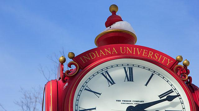 Indiana University clock