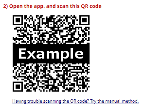 Google Authenticator QR code example