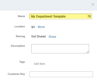 In the 'Save as template' box, enter a name for the new email template
