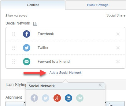 Option to add a social network