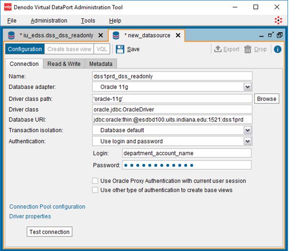 Denodo VirtualPort Administration Tool
