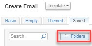 Salesforce Marketing Cloud Content Builder: Click 'Folders'