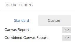 Custom report options in DigitalDesk