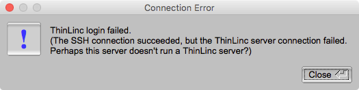 RED connection error message