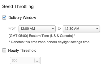 Send throttling option
