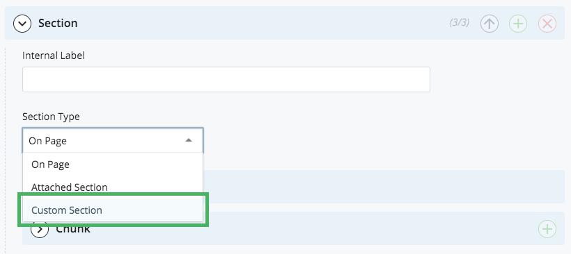 Custom Section option