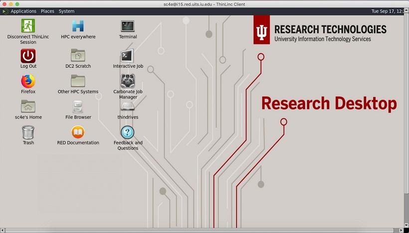Research desktop