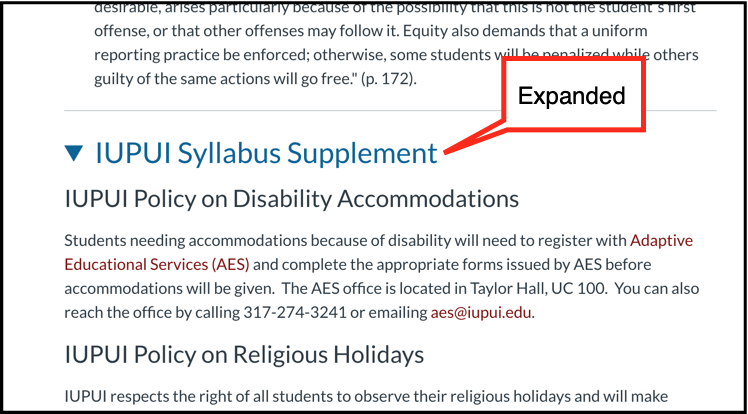 Expanded syllabus supplement
