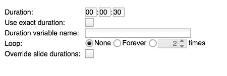 Set duration
