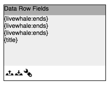 Data field inspector