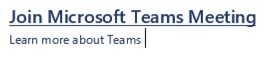 Join MS Teams meeting
