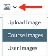 New Rich Content Editor Images drop-down