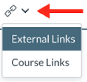 New Links drop-down