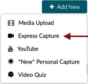 Add New Express Capture