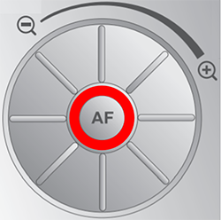 ELMO P10 autofocus button