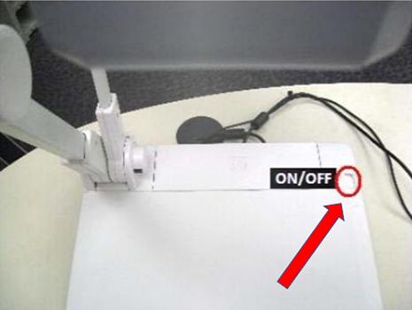 Power button on the ELMO P10