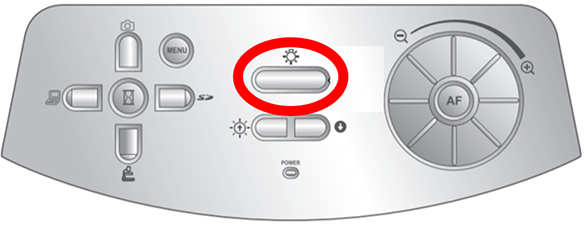 Lamp button on the ELMO P10