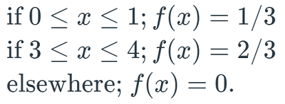 Example of breaking up the complex formula above into three distinct formulas. The text for how this would be read follows.